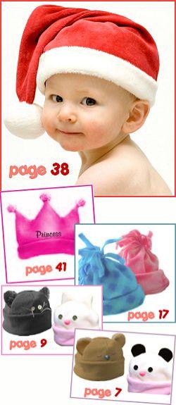 fleece baby hats