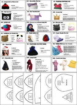 fleece hat patterns